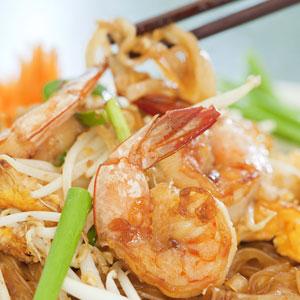 thai food served