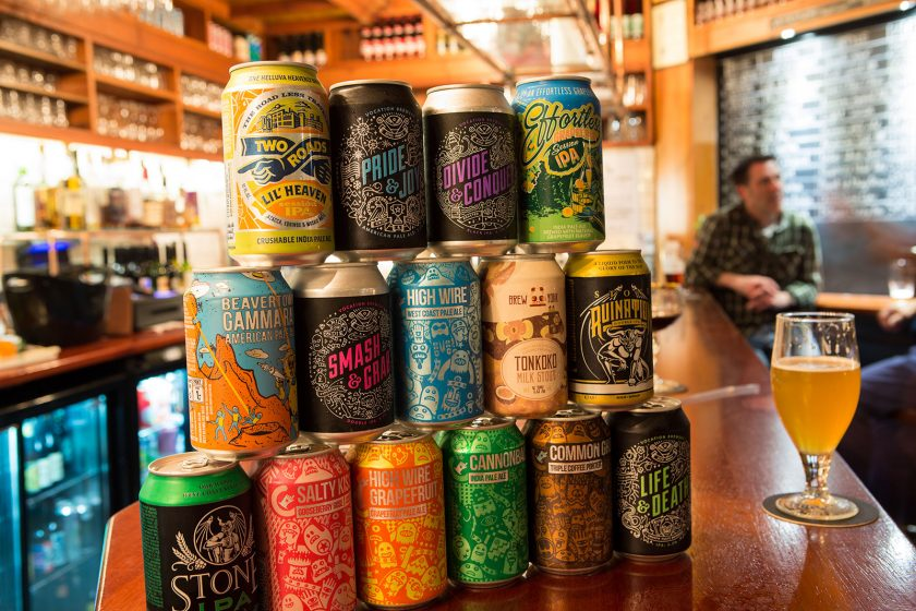 craft beer can display